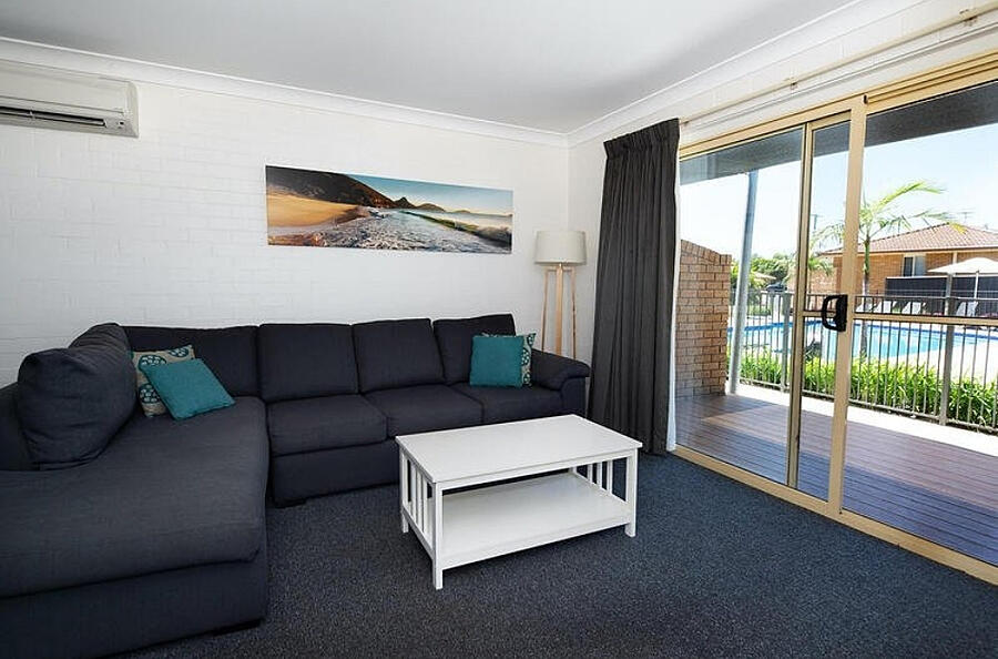 Accessible Lounge Room Seaside Holiday Resort Fingal Bay Port Stephens NSW