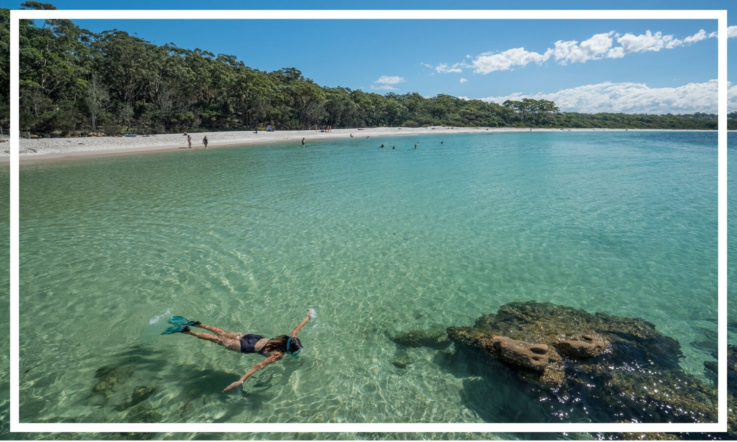 Snorkelling at Green Patch Jervis Bay by Dee Kramer Photography; Destination NSW