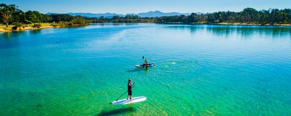 Paddleboard and kayak on the Kalang River - Riverside Holiday Resort, Urunga NSW